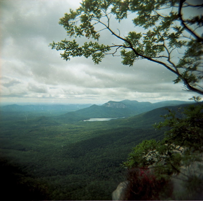 1. The view of the mountains from above Caesar's Head State Park.