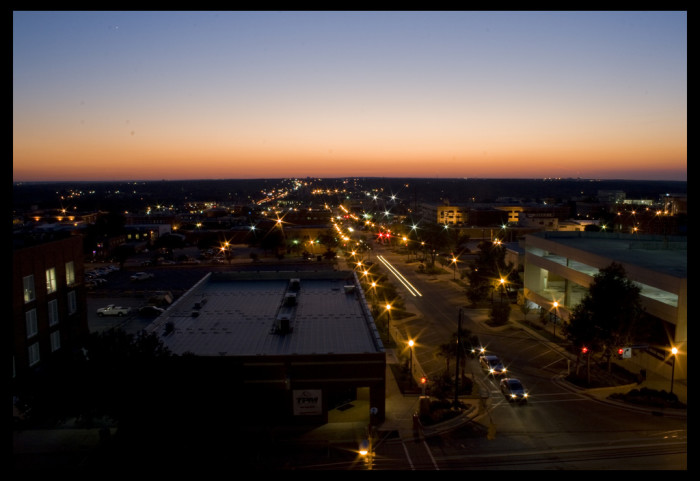 2. Night falls over Columbia, SC and this shot shows what happens when it does.