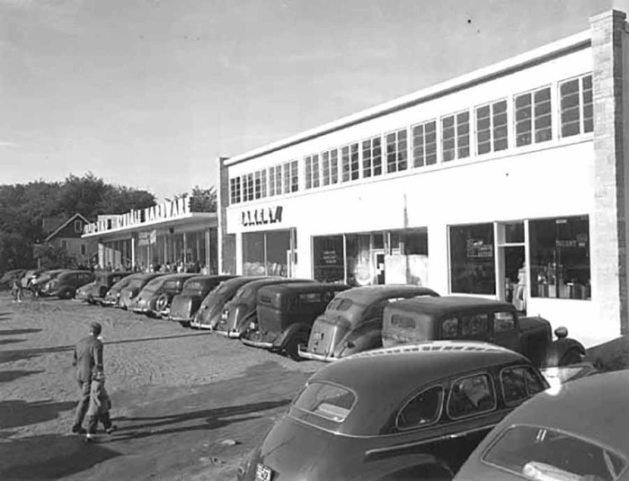 1. Then - A shopping center in 1947 at 66th and Lyndale.