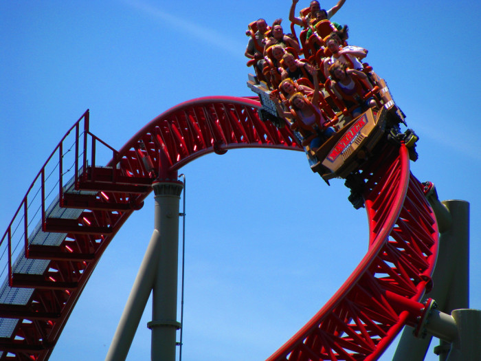 10) ...also, roller coasters.
