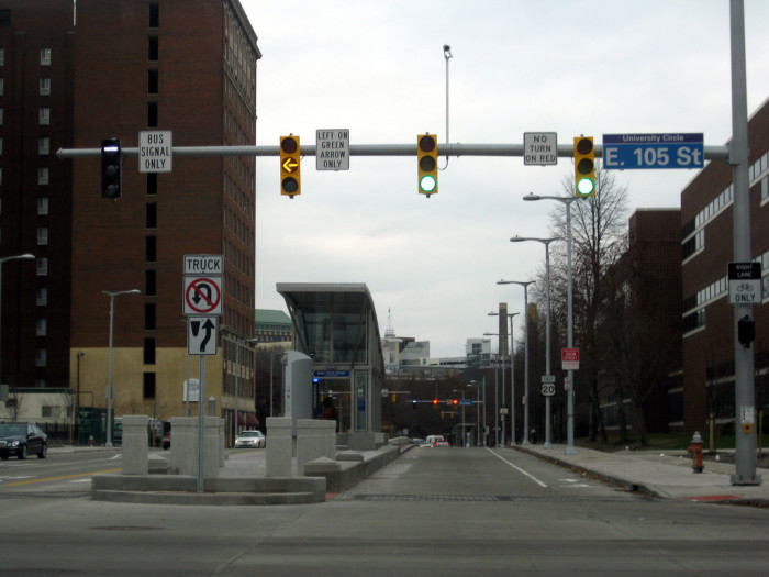 7) Cleveland also claims the site of the first pedestrian button for the control of a traffic light.