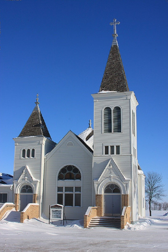 1. A country church in Grand Forks County, North Dakota.