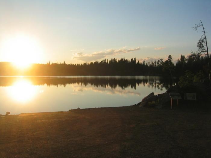 9. Gull Lake north of Brainerd is phenomenal at sunset.