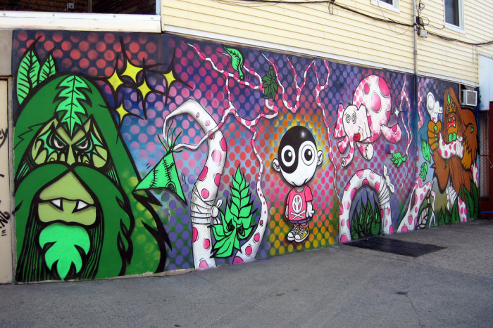 1. This collaboration by several street artists was the first piece commissioned by the Jersey City Mural Arts Program.