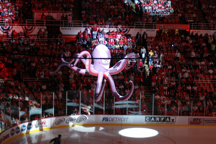 15) Throw an octopus on the ice at Joe Louis Arena