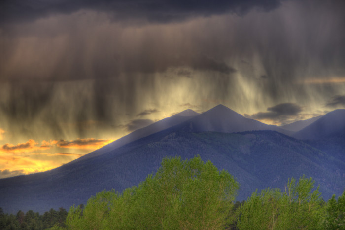 21. A look at summer rains in Flagstaff over the peaks.