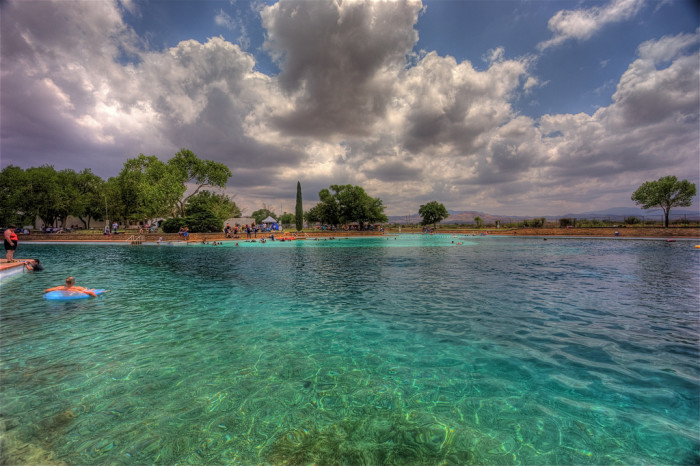 8) Swim at the world's largest spring-fed swimming pool in Balmorhea State Park!
