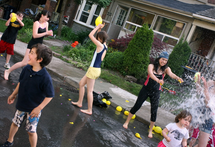 5. Neighborhood water fight. No need to send out invitations, just start attacking... they'll get it, right?