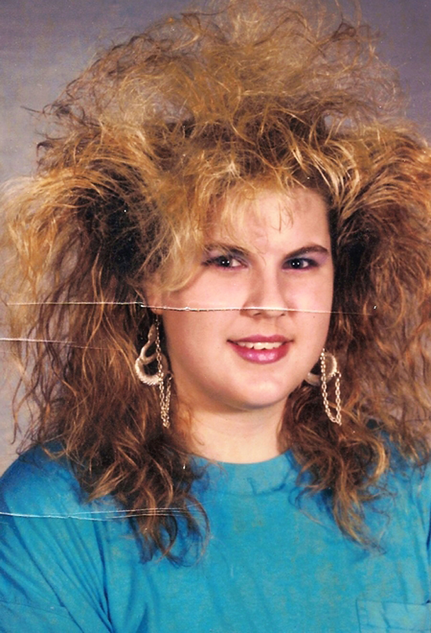 6. BIG hair...Really big hair! I swear most girls in my school used a can of AquaNet every morning to get their hair to do this.