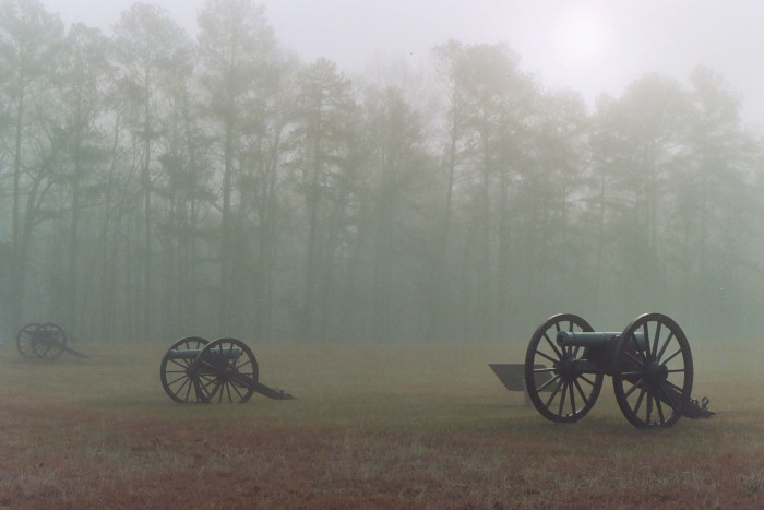 6) Fog on the Chickamauga National Battlefield seems almost ghastly.