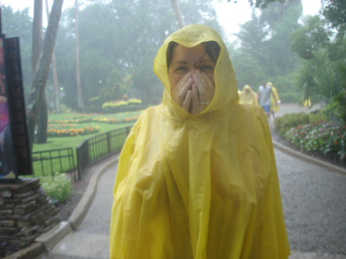 4. And getting caught in the rain.