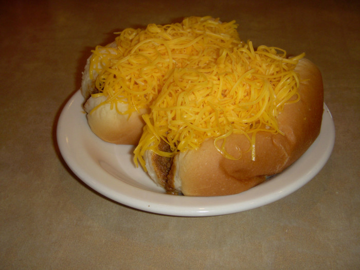 6) And in spite of your protests you were forced to eat there anyway—but when the cheese coney you ordered came out the amount of cheese on it blew your mind: