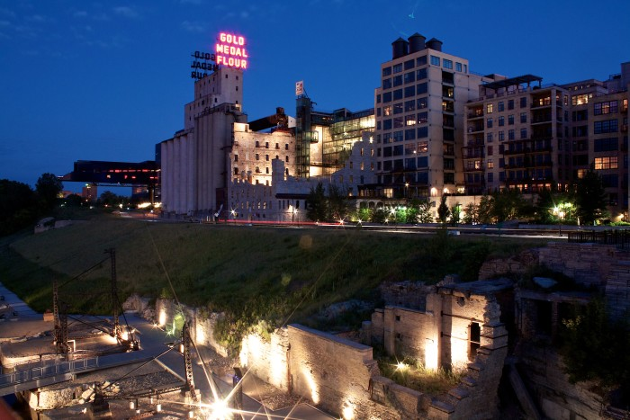 2. Nearby, Mill City Museum is also historic, gorgeous and stunningly romantic, especially at night!