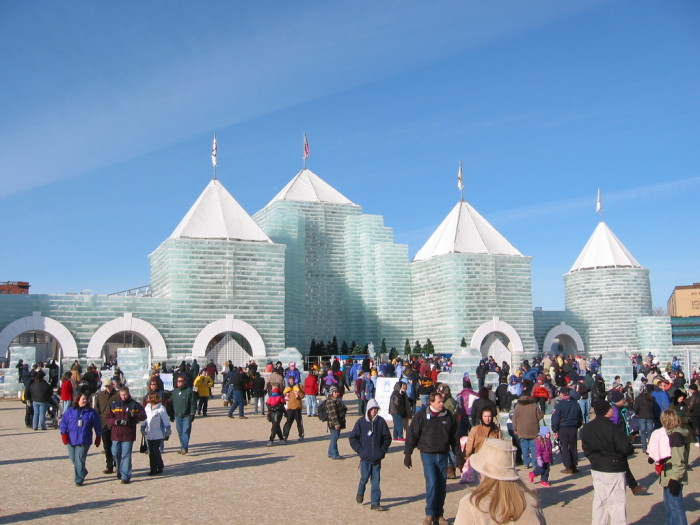 Now - The 2004 St. Paul Winter Carnival Ice Castle.