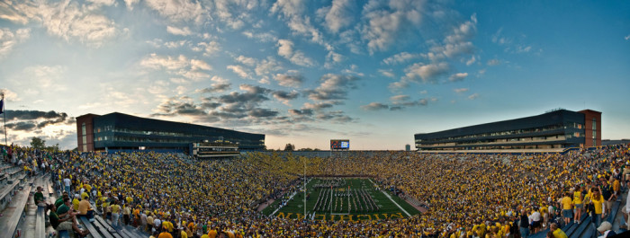 9) Go to a game at the Big House at the University of Michigan.