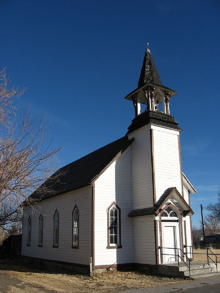 3. A picturesque old church in Paradise Valley, Nevada.