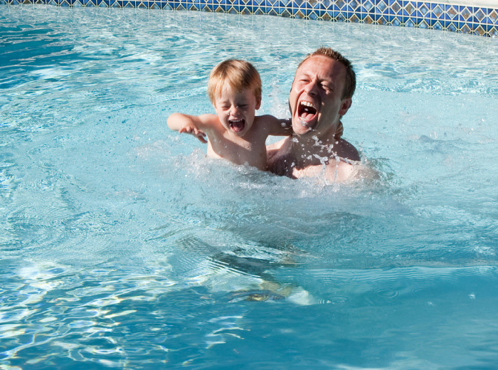 11) If you don't feel like traveling, just jump in your backyard or city pool for some sweet relief!