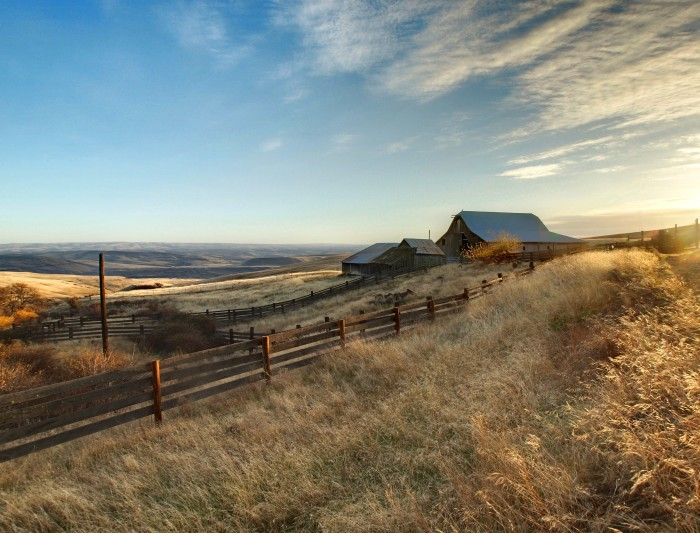 3. This barn is at Columbia Hills State Park in south-central Washington!