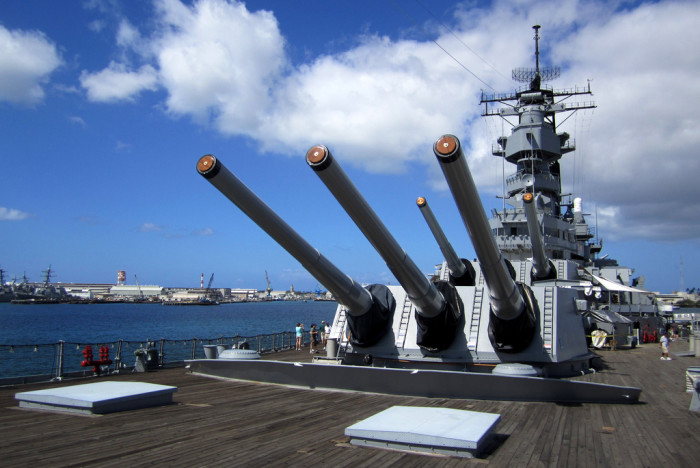 """4) Battleship – While much of this movie was filmed on Oahu and Maui, the battleship USS Missouri is the real star of this """"military science fiction action-war film."""""""