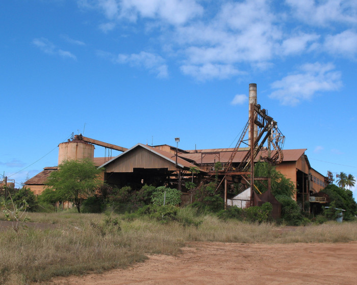 4) A decrepit factory near Waimea, Kauai.