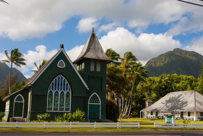 4) Wai'oli Hui'ia Church, Kaua'i