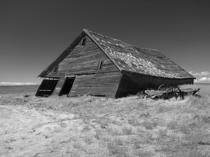 5. Seen by the town of Farmer, near Douglas, Washington.