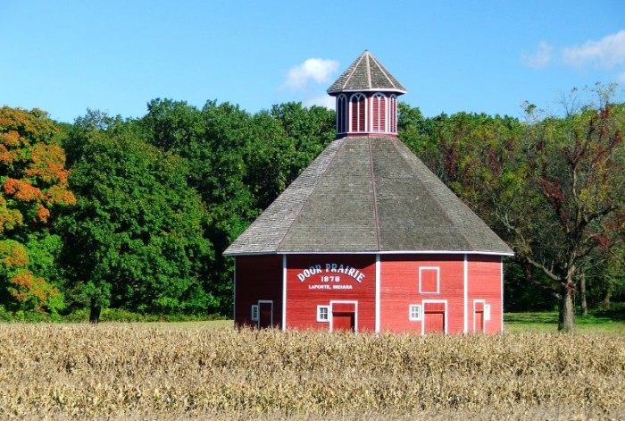 1. Beautiful well-maintained nine-sided barn in LaPorte! You just don't see many of these anymore!