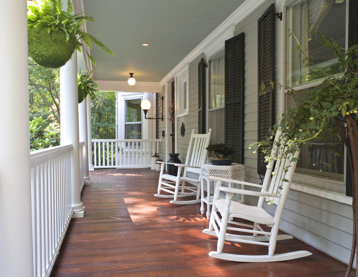 8. Porches are very popular and used a lot by their owners.