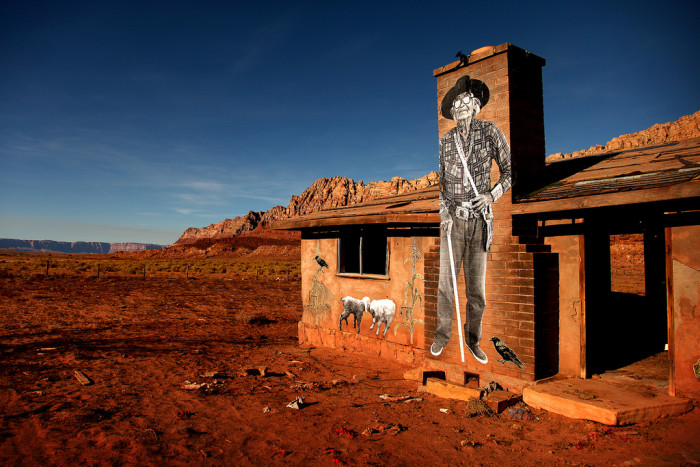 13. This house near Bitter Springs is not only giving way to the surrounding desert but also the local artists.