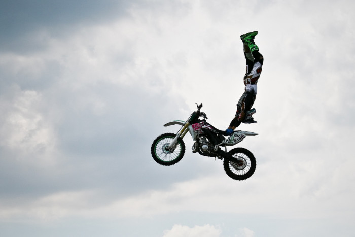 A Mid-Air Motocross Handstand Caught at Just the Right Moment