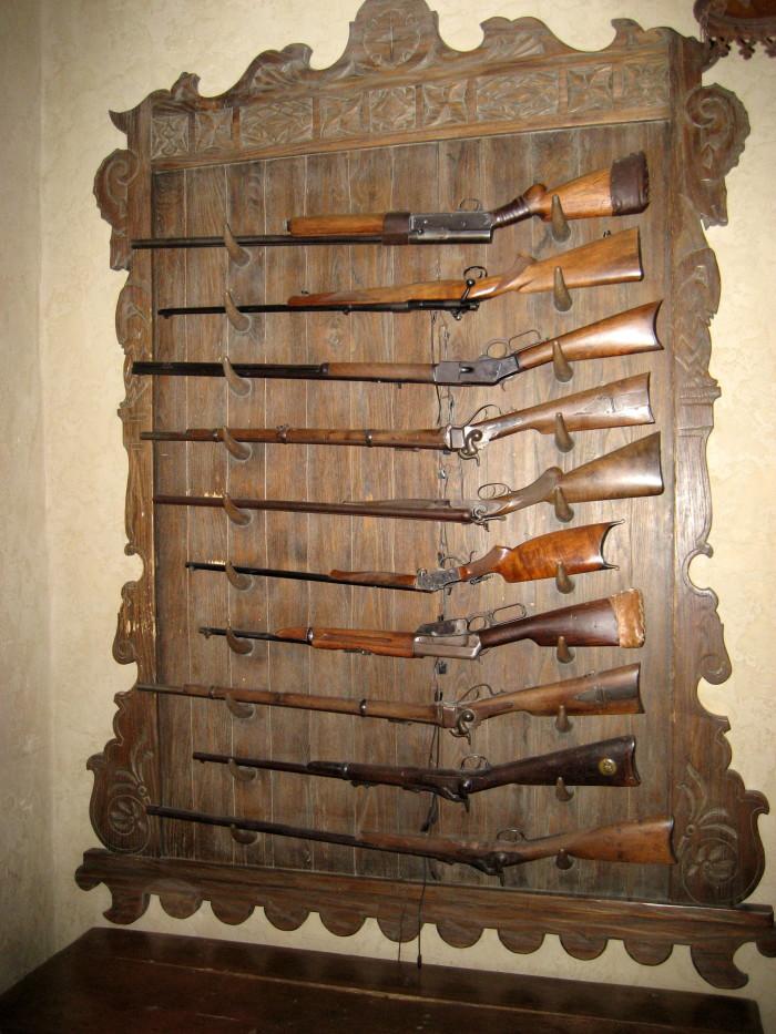 4. A gun rack or cabinet.