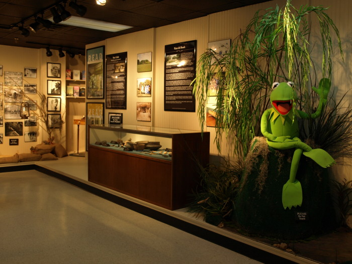 4. Meet Jim Henson, Kermit the Frog, and the rest of the gang in Leland.
