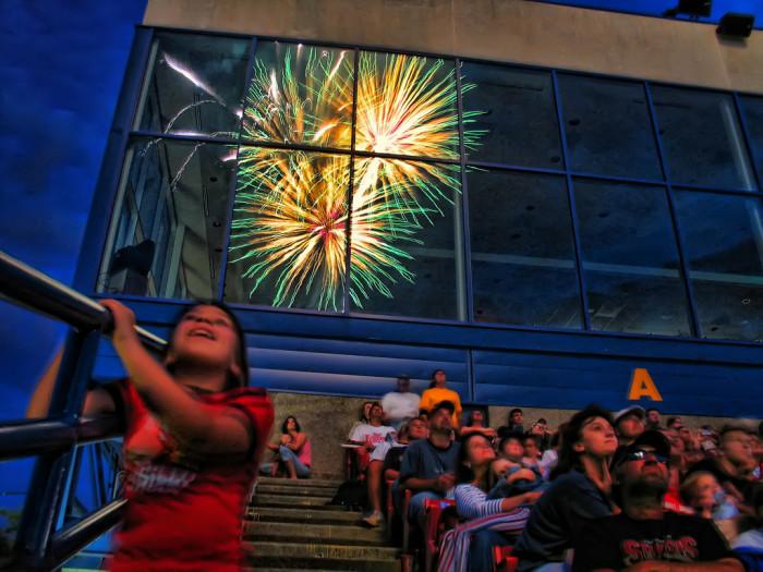 A Unique View of a Fireworks Show