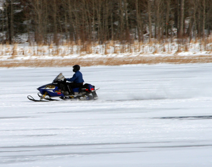 17) Snowmobile Up North