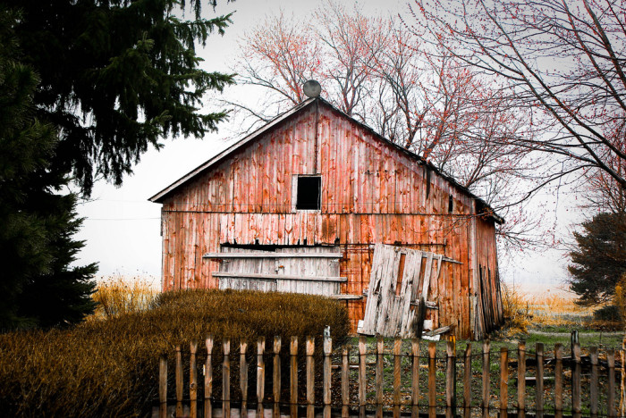 9. I love how the years have faded the beautiful coloring on this barn!