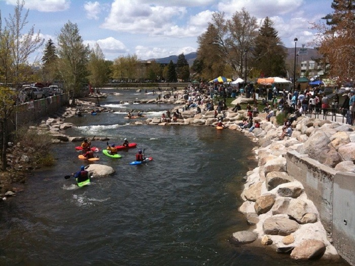 or kayaking down the Truckee River.