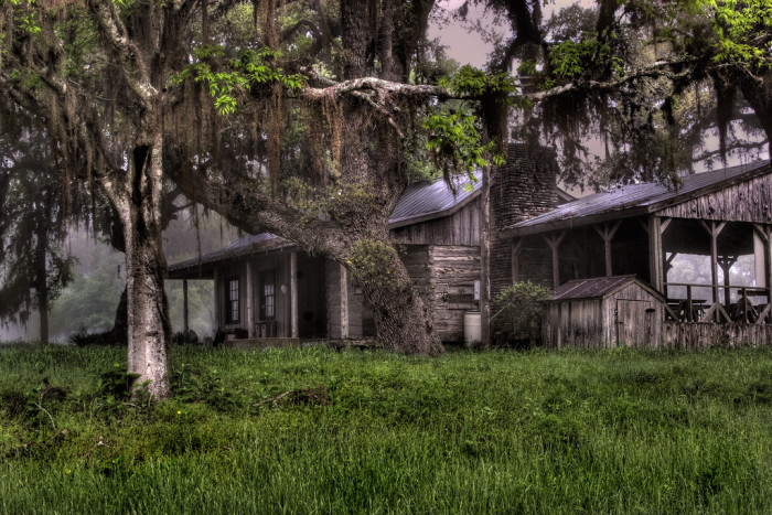 11) A secluded cabin in the woods in La Grange, Texas.