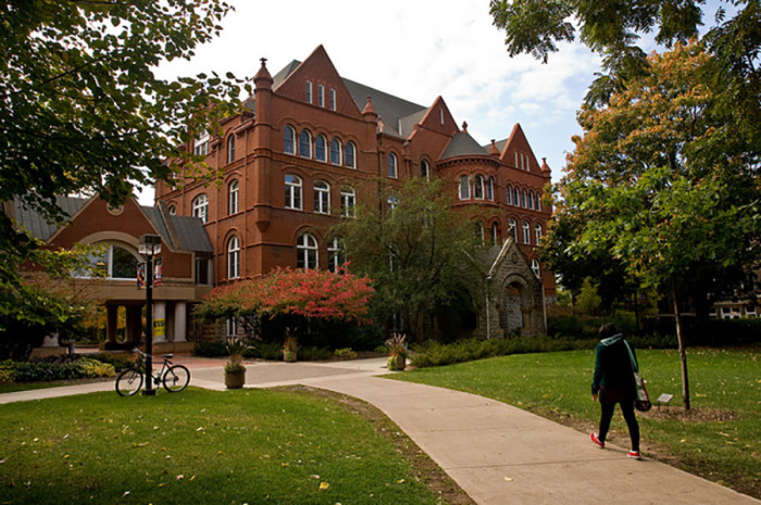 10. The Old Main Castle on  the Macalester College campus is a vision in the fall.