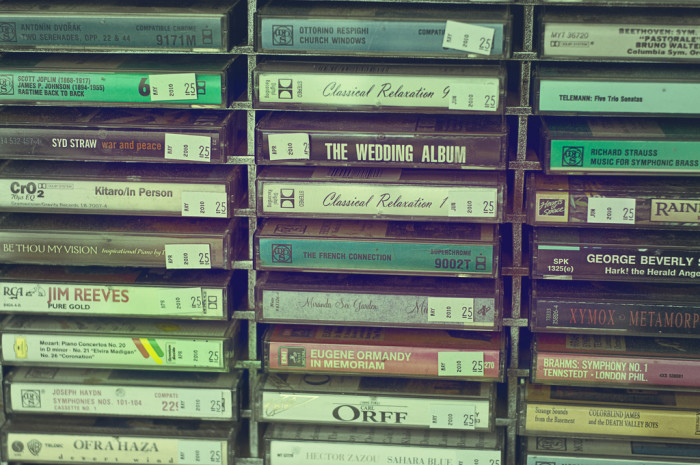 18. Cassette tapes - I can still remember my mom carrying a basket with a bunch of different tapes for our car rides.