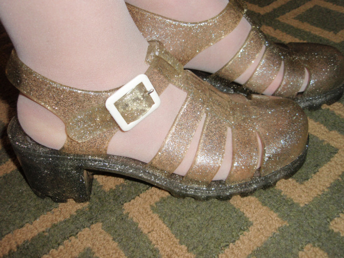 8. Jellies or Jelly shoes. Everyone had them and, I liked them until I realized my feet would get dirty all the time.