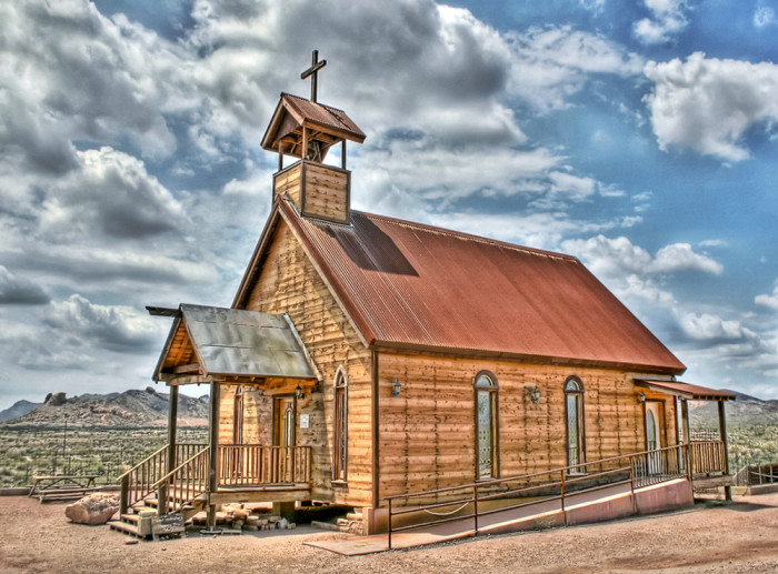 10. This little church appears more rugged and weather-beaten than in real life.