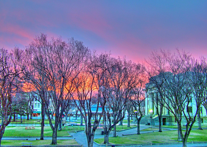 14. This sunrise photo of Prescott looks especially cool with all the exaggerated colors.