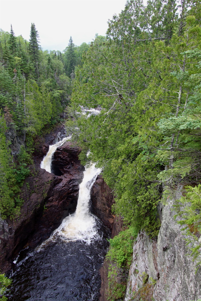 10. Devil's Kettle Falls near the shores of Lake Superior display one half of the mysterious Brule River. You'll just have to wait to visit to see what we're talking about.