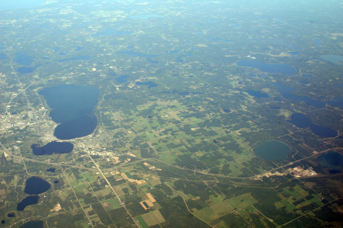 5. This distance shot of the Bemidji area is green and gorgeous.