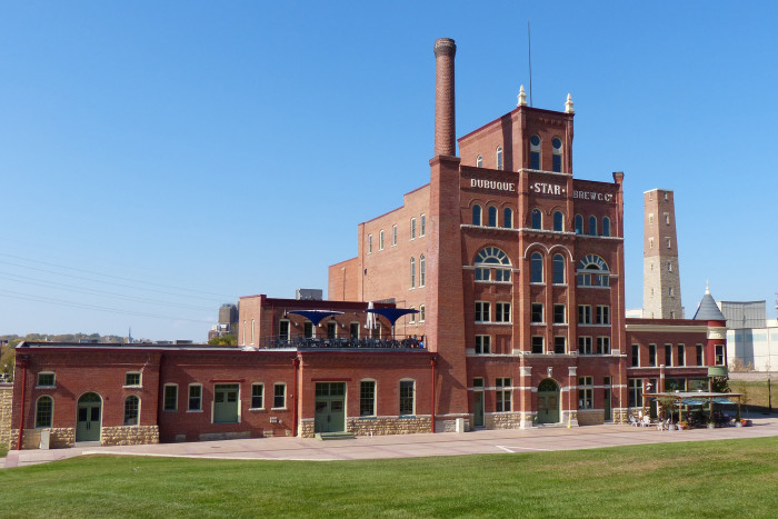 4. The historic Dubuque Star Brewery building in Dubuque