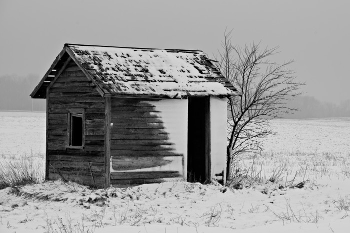 4. This lone shed in Mechanicsville has an eerie feel to it.
