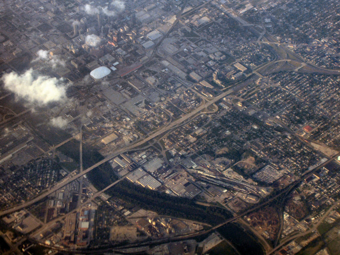 5. This aerial shot of Indianapolis is 10 years old, but it's great for reminiscing.