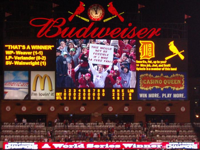 5. Cardinal Fan Slams the Cubs