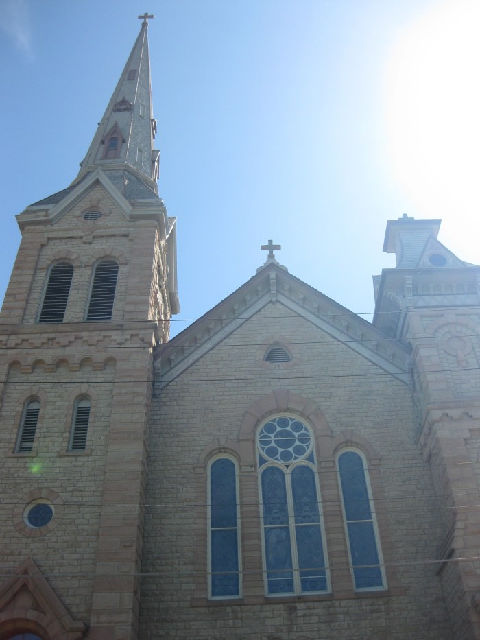 2. St. Michael's Catholic Church in Stillwater stands regally in the sunlight.