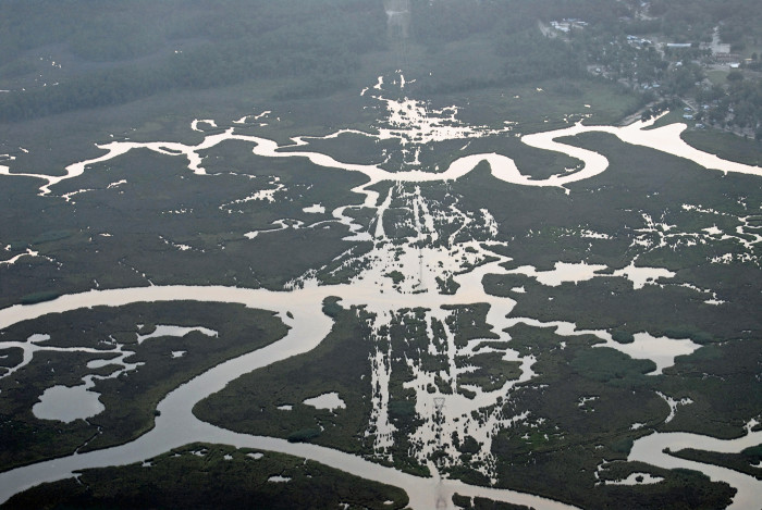 5. An unbelievable shot of the Pascagoula River.